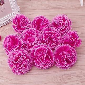 wifun 10pcs Artificial clavel flores para novia dama boda fiesta Decor, azul, Approx.9cm