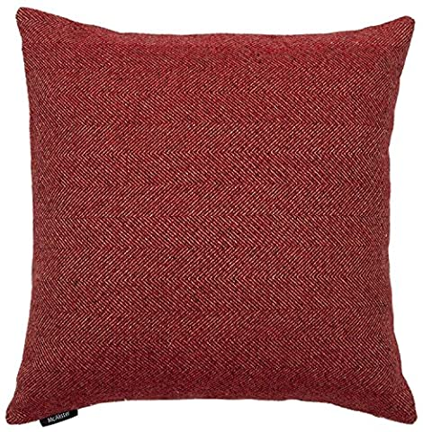 McAlister Textiles Herringbone | Soft Textured Woven Faux Wool Burgundy