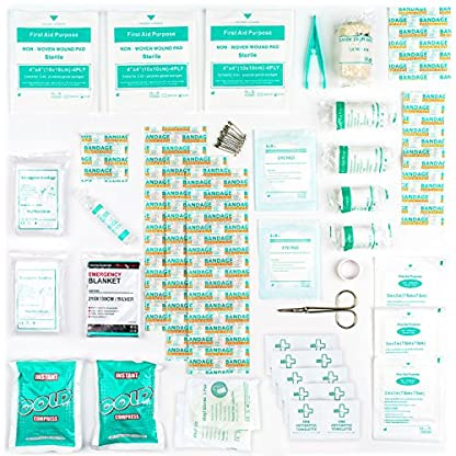103 Pieces Harley Street Care Professional First Aid/Emergency Kit. Comprehensive, Compact & Durable for Health & Safety, Includes Eye Wash, Cold Packs, Emergency Blanket for Home, Car, Work, Travel 5