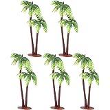 Amosfun Artificiell kokosnöt palmträd simulering kokosnöt träd fisktank dekoration miniatyrplantor bonsai gör-det-själv hantv