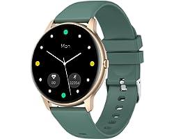 YAMAY Smartwatch Uomo Donna Orologio Fitness Cardiofrequenzimetro da Polso Smart Watch Activity Tracker Contapassi Conta Calo