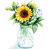 Tenei Paint by Numbers for Adults & Kids Sunflowers Oil Paint DIY Craft Paintings Art Set on Canvas Color by Number Kits Acry