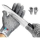 Gants Anticoupures InnoBeta® de protection résistants aux coupures antidérapants tactiles haute performance niveau 5 Touch gants d'écran gris (XL)