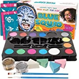Kinderschminke Set Face Paint Von Blue Squid, Ultimate Party Painting Pack, Hochwertiges Kinder Schminkset Ideal Für Kinder Partys Mädchen & Faschingk Professionellemit Kinderschminke Mit Großer Auswahl An Schminkfarben, Schablonen, Glitzer, Gesichtsfarben, Wasserbasiert Und Ungiftig
