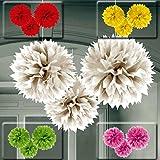 Set da tre festoni per soffitto a forma di nido d'api 40,6 cm Pompon a forma di alveare da attaccare al solaio multicolore - Palle di carta a forma esagonale Sfere in tessuto da appendere al soffitto Palle pendente a forma di favo Addobbo per feste