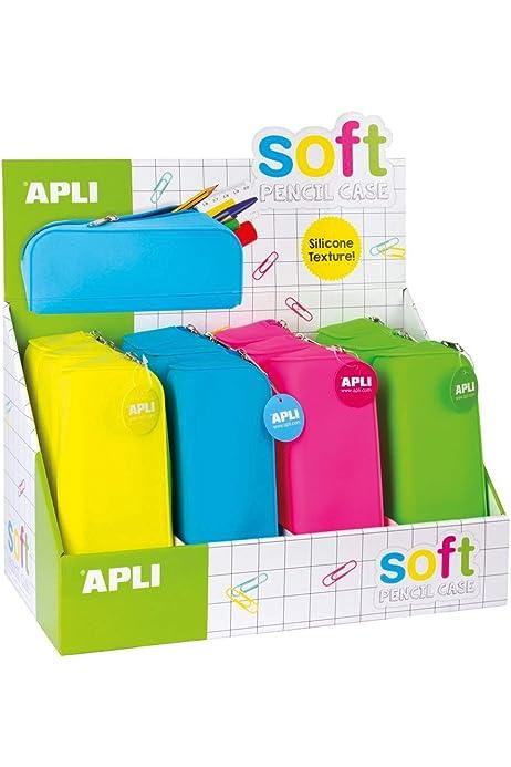 APLI- Estuches, 1 Unidad [Colores Surtidos] (16300): Amazon.es: Oficina y papelería