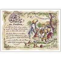 Geschenk Erzieherin Kindergärtnerin Kindergarten Zeichnung Color 20 x 15 cm