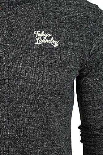 Tokyo Laundry Herren T-Shirt 'Hazen' Charcoal/Egg Shell
