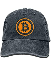 1f0cf7864 rongxincailiaoke Bitcoin Logo 2017 Washed Retro Adjustable Cowboy Hat  Trucker Cap For Man and Woman