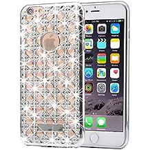 iPhone 6S plus y 6 más funda de diamante, KrygerShield® - cubierta ligera super ligera de ágata ligera - plata