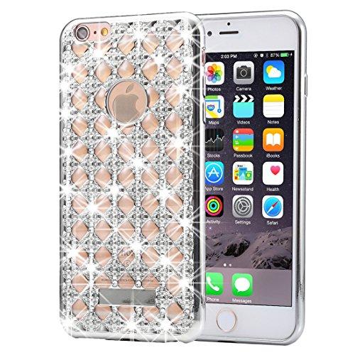 FBA-KrygerShield® Diamond Agate iPhone 6s 6 Case - Silver