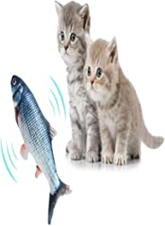 Electric Catnip Fish Toys Simulation Fish Shape Realistic Fluffy Doll Interactive Pets Pillow Chew Bite Supplies for Cat Kit