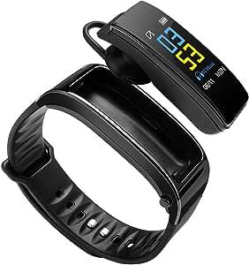 Smart Watch Bluetooth auricolare cardiofrequenzimetro fitness tracker sonno monitor contapassi orologio per uomo donna