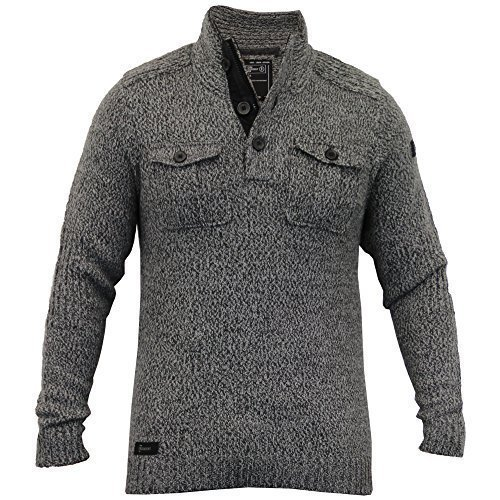Hommes Laine Mélangée Pull Tricot Pull D'hiver Pull By Dissident Gris - 1A8036