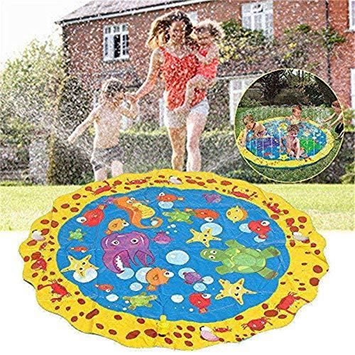 Sprinkle and Splash Play Mat, Wasserspielzeug für Kinder/Hund/Katze/Haustiere, Sommer-Spielzeug für Familienaktivitäten im Freien (100 cm)