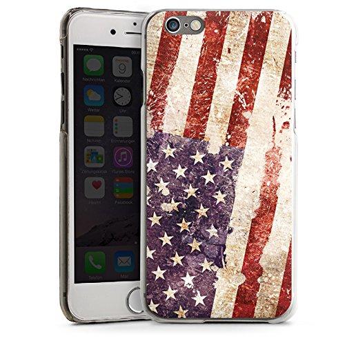 Apple iPhone 4 Housse Étui Silicone Coque Protection États-Unis d'Amérique Amérique États-Unis Drapeau CasDur transparent