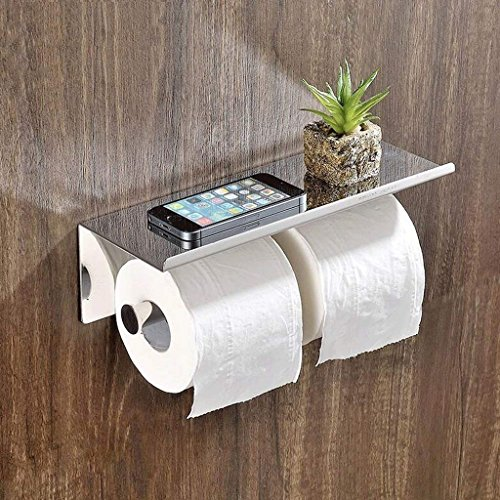 NAERFB WC Papier Halter Edelstahl Links und Rechts Papier Handtuchhalter WC WC Handtuch Hotel WC Papier Handtuch Box Doppel Haspel (Vintage-papier-handtuch-halter)
