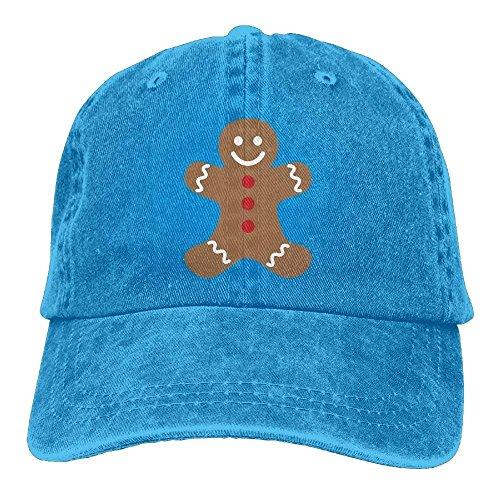 UUOnly Justierbare Jeans-Kappen-Freizeit-Hüte des Lebkuchen-Mann-Baumwollfür Erwachsenen