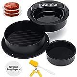 SAWAKE Burger Press, Pressa Hamburger, 3 in 1 Kit di Stampo per Hamburger Normale, Farcite e Mini - Macchina per Hamburger Ri