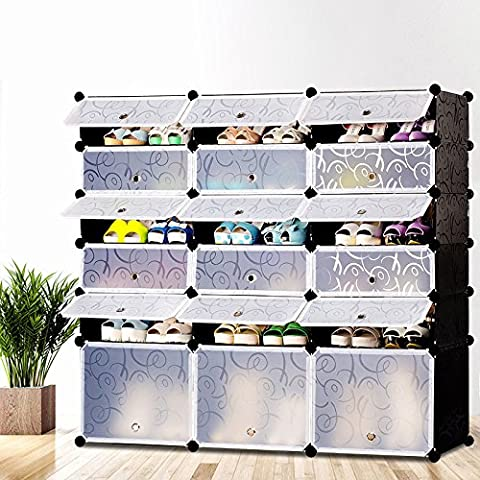 HJFF-The high-end storage rack _ high-grade shoe simple large capacity storage idea tree ester plastic removable storage cabinet,Three rows of six boot,Multi-storey