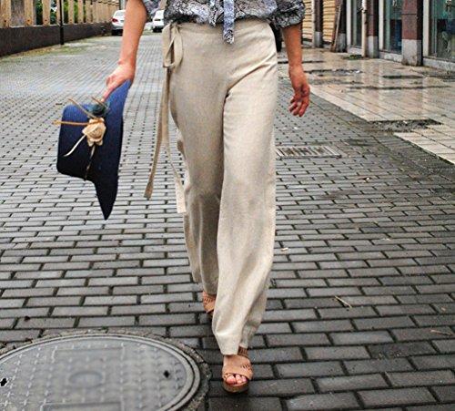 YuanDian Femme Automne et Hiver Baggy Décontractée Bouffant Grande taille Taille Haute Pantalons Kaki
