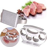 BESLIME Martello Batticarne per Bistecca Batticarne per Carne a Mano  Martello per Carne  per Cucina Pollo  Manzo  Maiale  Dadi