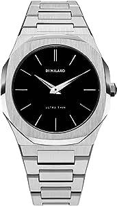 Watch D1 Milano Unisex AUTB01 Quartz Steel Ultra Thin Silver Black