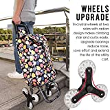 Creacolis Upgraded Folding Shopping Cart, Stair Climbing Cart Grocery Laundry Utility with Wheel