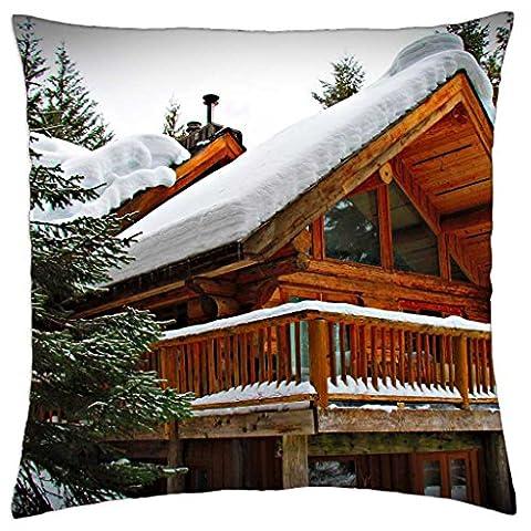 Log cabin - Throw Pillow Cover Case (18