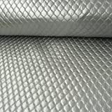 Steppstoff Stoff Meterware einfarbig grau 1,45m Breite