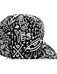 Tongshi Hip plana unisex de béisbol de la vendimia Bill sombrero del Hippie de ojos Hop casquillo ajustable