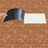 DMZH 10 STÜCKE Wood Grain Wear-Resistant Thickening Fliesen Aufkleber Dekorative Aufkleber Reise Aufkleber Kreative Rutschfeste Selbstklebende Wandtattoos Floor Sticker