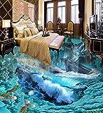 Wongxl 3D Unterwasserwelt Von Delphine Auf Dem Boden Der Kinder Zimmer Zwischen Der Küche Wc Bodenfarbe 150cmX100cm