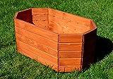 NEU Pflanzkasten aus Holz TOP Pflanzkübel Garten Terrasse fertig montiert D12 Hellbraun (60 cm)