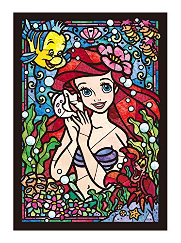 266-piece jigsaw puzzle Stained Art Disney Ariel stained glass tightly series (18.2x25.7cm) (Puzzle Glass Disney Stained)