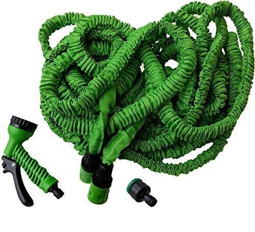 25 Meter flexibler Gartenschlauch Wunderschlauch Wasserschlauch inkl. Adapter und Multifunktionsbrause