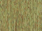 Landhaus Möbelstoff Garmisch Farbe 40 (grün, hellgrün, lindgrün) - modernes Chenille-Flachgewebe (gemustert, gestreift, Fleckerlteppich-Optik) Polsterstoff, Stoff, Bezugsstoff, Eckbank, Couch, Sessel, Hussen, Kissen