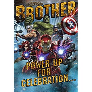 Avengers Brother Birthday Card
