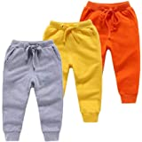 KYDA KIDS 100% Cotton Winter Fleece Track Pant for Boys and Girls - Regular fit | Multicolor Track Pant | Pack of 3