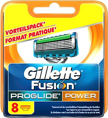 8 Fusion (Auslaufmodell Gillette Fusion ProGlide Power Rasierklingen, 8 Stück, standard Verpackung)