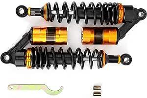 Ebtools Stoßdämpfer Motorrad Metallfederung Federbein Stoßdämpfer Teile Schwarz Gelb 325 Mm Auto