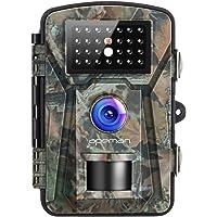 APEMAN Fototrappola 16MP Videocamera 26PCs 940nm IR LEDs Macchine Fotografiche da Caccia Visione notturna 65ft/20m IP66