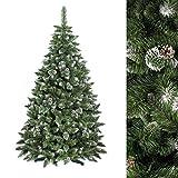 PREMIUM Weihnachtsbaum Tannenbaum künstlich Kunstbaum Christbaum künstlicher Weihnachtsbaum 180cm NATUR-WEISS