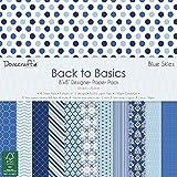 Trimcraft Dove Craft–Back To Basics–Papel decorativo (20,3x 20,3cm) 4Color azul...