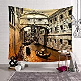 QLIYT WandteppicheItalien Venedig Baustil Tapisserie Wandbehang Heimtextilien Tagesdecken Plus Size Badetuch