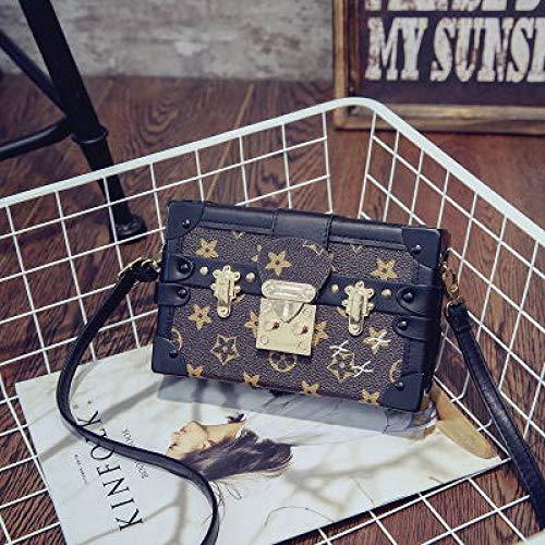 Ldyia Bagsbag Paket Alten Blumenkasten Tasche Retro-Druck kleine quadratische Tasche Schulter Kette kleine Tasche Mini Umhängetasche, alte Blumenfarbe -