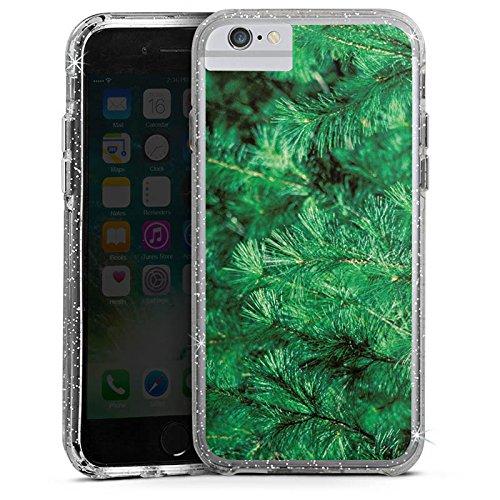 Apple iPhone 6 Bumper Hülle Bumper Case Glitzer Hülle Pin Pinie Natur Bumper Case Glitzer silber