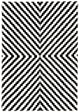 KADIMA DESIGN Moderner Designer Teppich Ouse Rug 160x230 cm ON02 Geo Mono Schwarz Creme 100% Baumwolle