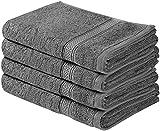 Utopia Towels - Set di Asciugamani Mani (4 Pezzi, 41x 71 cm) - 100% Cotone - Perfezionare per Hotel & Spa - Massima morbidezza e assorbenza da parte di (grigio)
