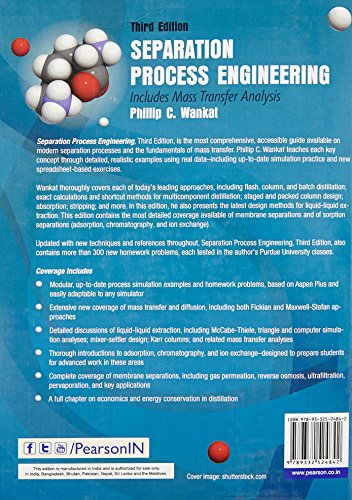 Separation Process Engineering: Includes Mass Transfer Analysis, 3e